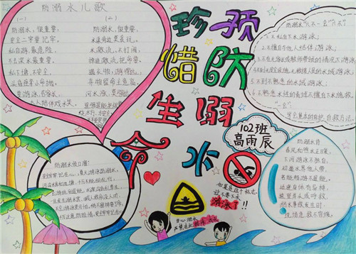 防溺水宣传画_防溺水安全宣传手抄报图片