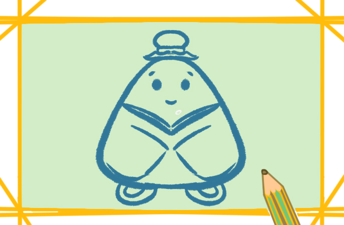 粽子的传统形式为三角形,一般根据内瓤命名.