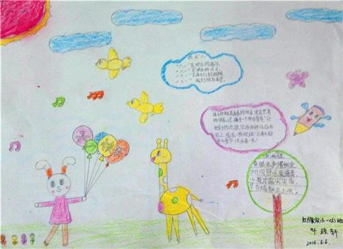 六一儿童节手抄报简笔画