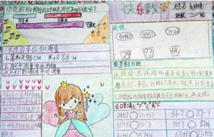 快樂數學手抄報二年級繪畫圖片