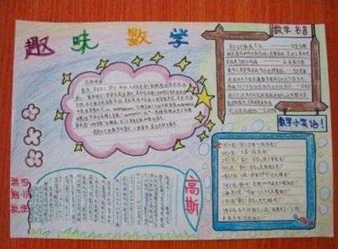 趣味數學手抄報四年級繪畫作品