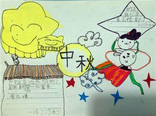 2020中秋节手抄报版面设计图