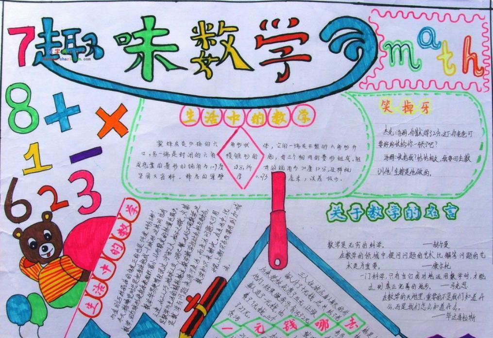 小学数学手抄报图片_趣味数学