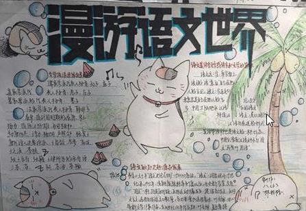 漫游语文世界手抄报绘画简单可爱