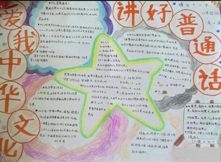 讲好普通话爱中华文化手抄报
