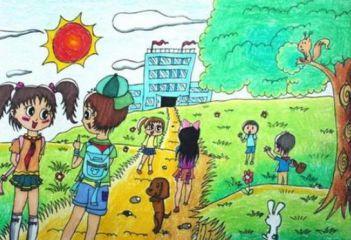 上学或放学路上的风景作文600字左右10篇