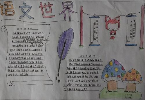 语文世界手抄报画画简单又好看