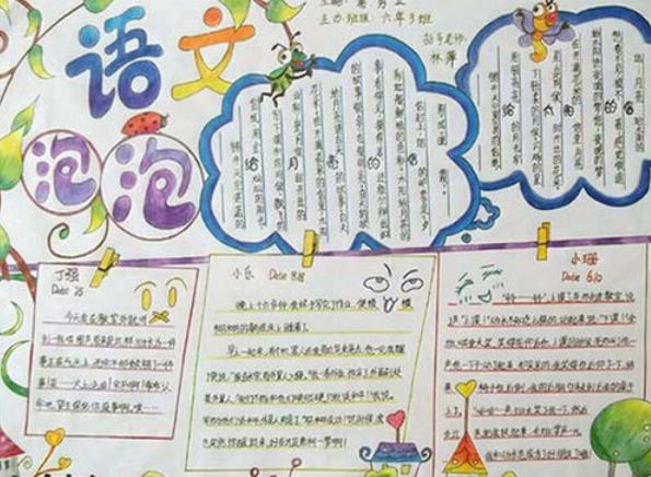 小学生语文知识点总结手抄报模板设计