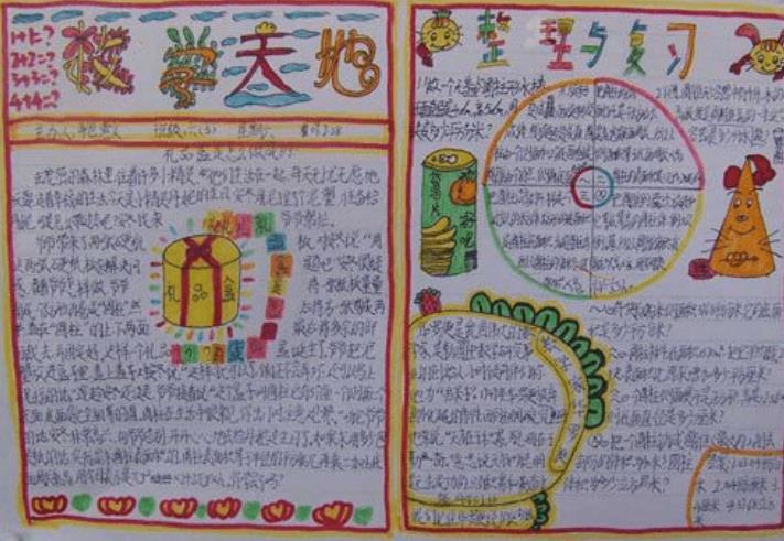 小学生数学整理与复习手抄报版面设计