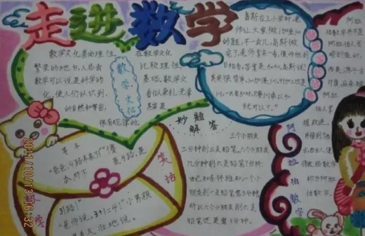 走进数学趣味数学手抄报小学生绘画作品
