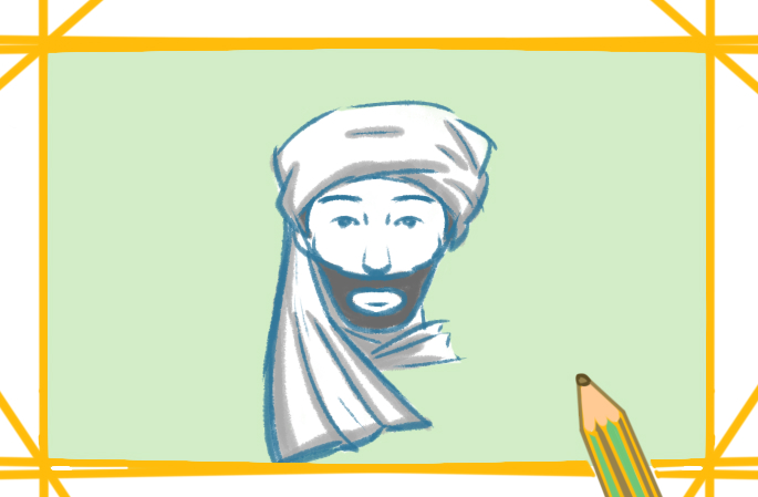 阿拉伯裔上色簡筆畫圖片教程