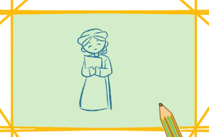 抗疫的白衣天使上色简笔画要怎么画