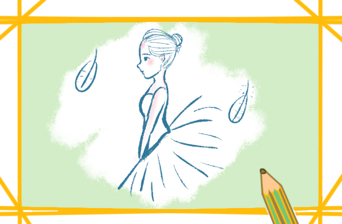 跳芭蕾舞的女孩上色简笔画要怎么画