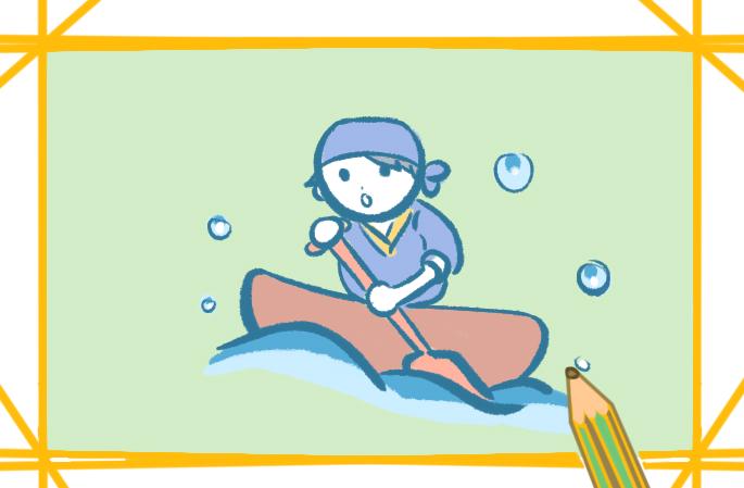 端午節賽龍舟上色簡筆畫要怎么畫