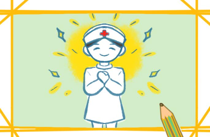 白衣天使護士上色簡筆畫要怎么畫