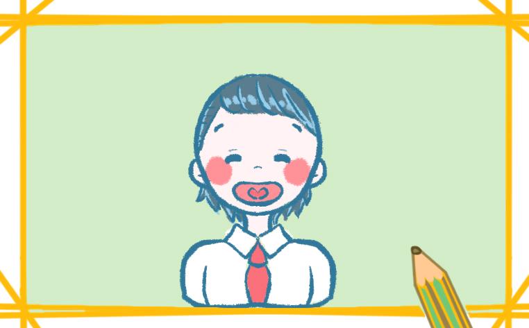 带着红领巾的孩子的图片怎么画