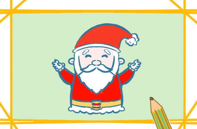 可爱的圣诞老人简笔画图片教程步骤