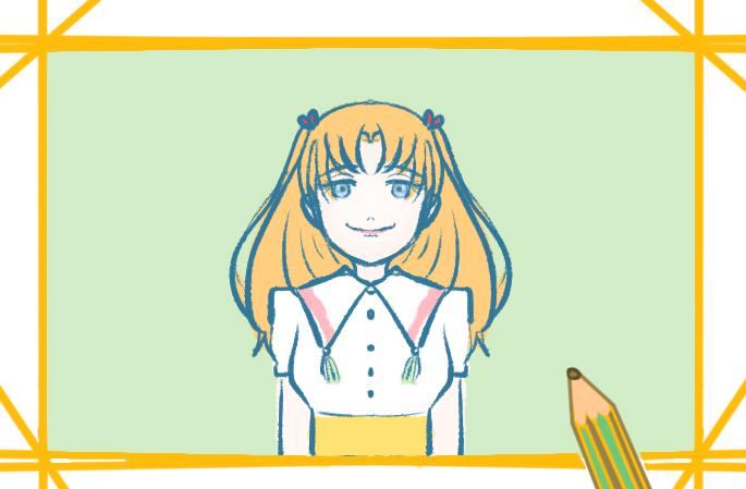 美丽的女孩子上色简笔画要怎么画