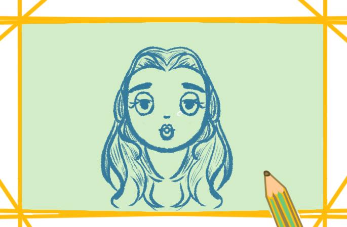 女性人体轮廓简笔画