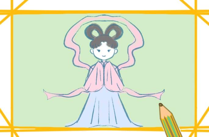 簡單的仙女簡筆畫圖片怎么畫