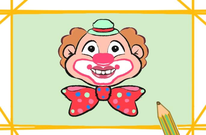 喜悅的小丑簡筆畫圖片怎么畫