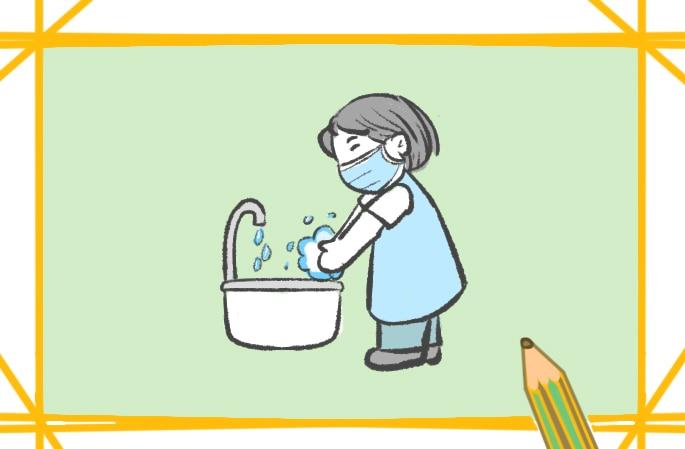 防疫勤洗手簡筆畫圖片怎么畫