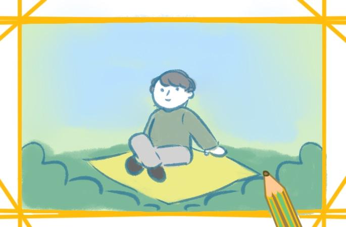 戶外野營的男性簡筆畫圖片怎么畫