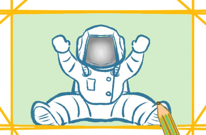 可爱的宇航员好看的简笔画要怎么画