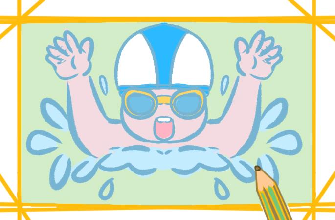 上課的男孩上色簡筆畫要怎么畫