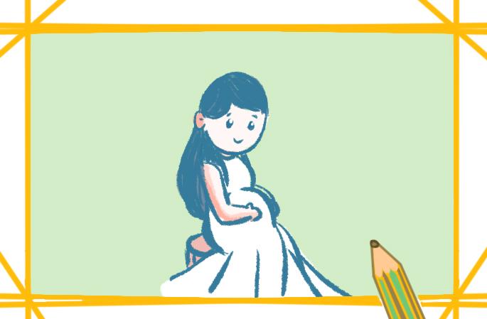 漂亮的孕妇的简单图片怎么画