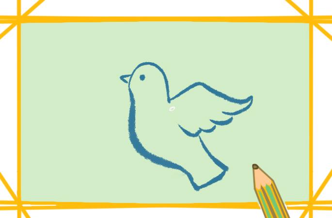 简笔画的鸽子的图片怎么画