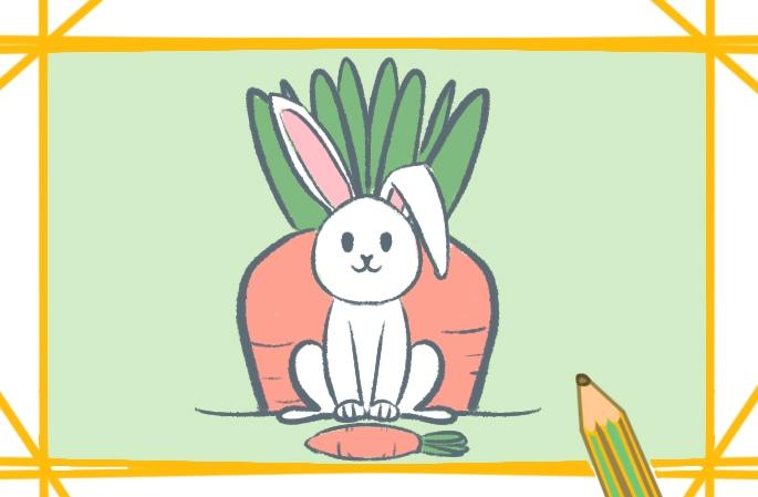 可愛的白兔圖片怎么畫