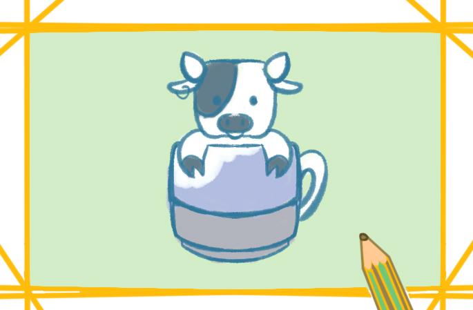 黑白奶牛上色簡筆畫要怎么畫