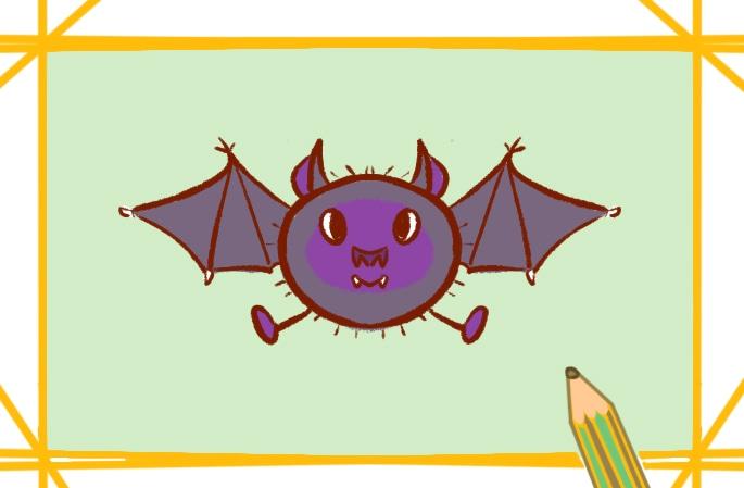 可怕的蝙蝠简笔画图片怎么画