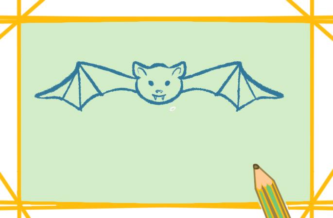 超简单画蝙蝠的图片怎么画简笔画