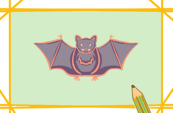 飞翔的蝙蝠简笔画图片怎么画