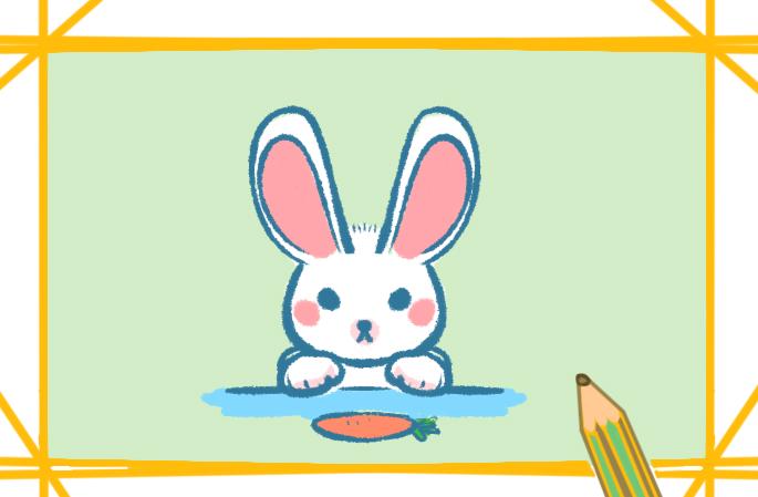 小白兔简笔画简单又可爱图片儿童画