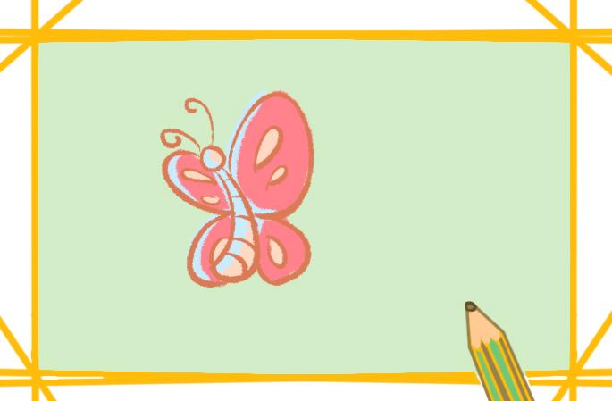 一笔一画的蝴蝶画法的图片怎么画