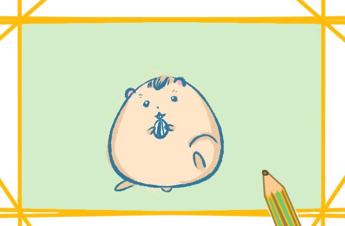 圆润的仓鼠简笔画怎么画