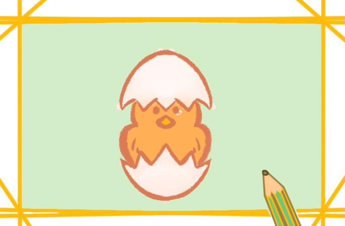 幼儿园小鸡简笔画图片怎么画儿童画