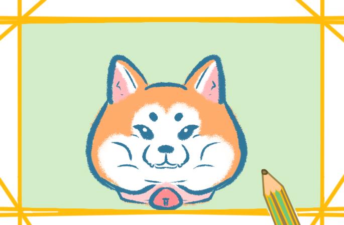 柴犬的简易画法的图片怎么画