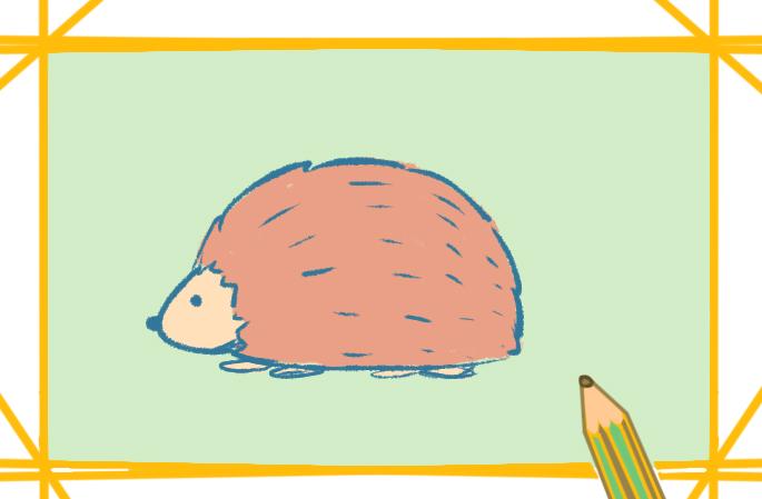 小刺猬简单画法的图片怎么画