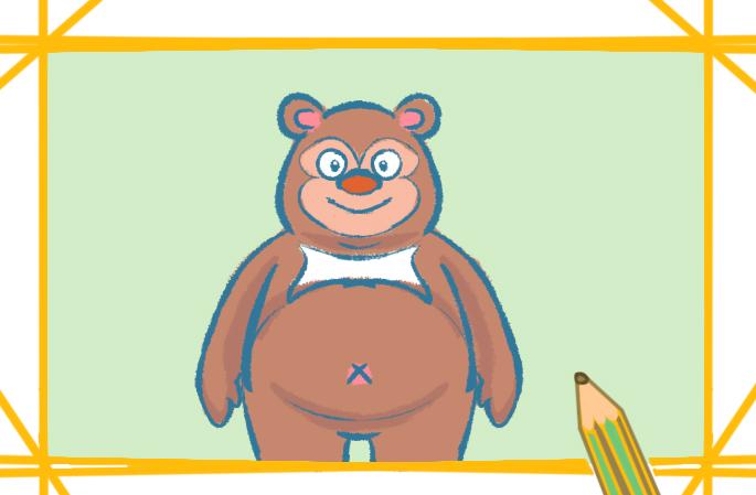 棕熊简笔画带颜色怎么画