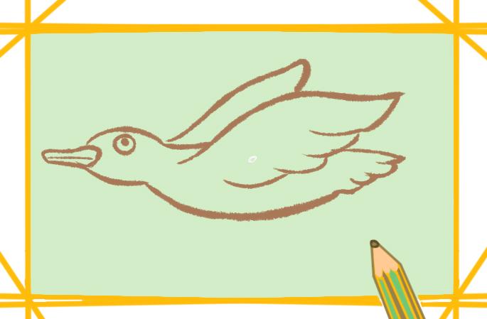 大雁南飞儿童画的图片怎么画