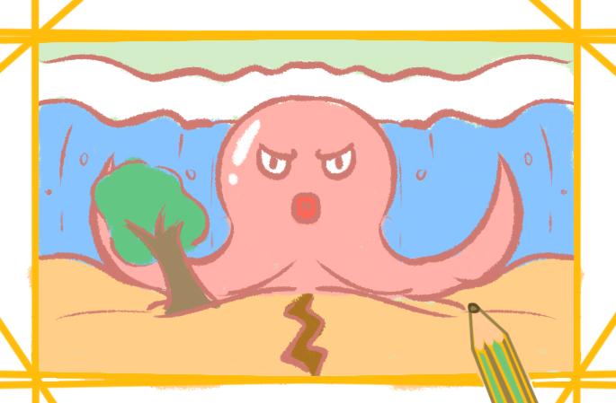 简单又漂亮的章鱼图片怎么画