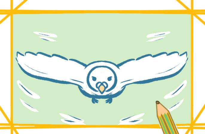 飞翔的白鸽上色简笔画要怎么画