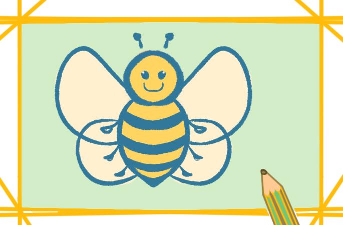 简单的蜜蜂简笔画怎么画