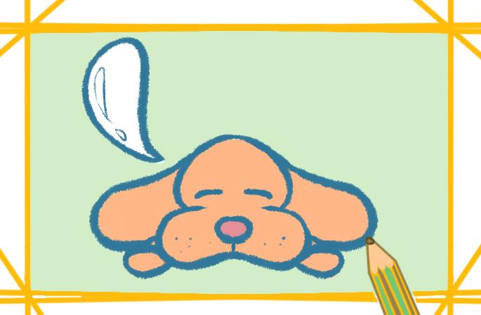 狗狗卡通圖片的簡筆畫怎么畫