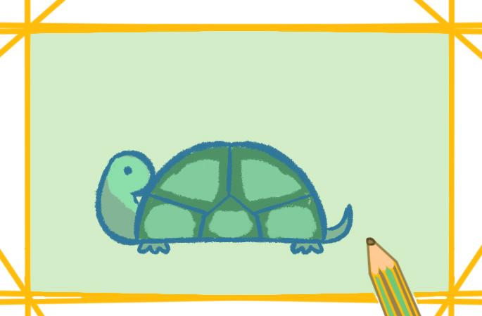 動物簡筆畫烏龜圖片怎么畫