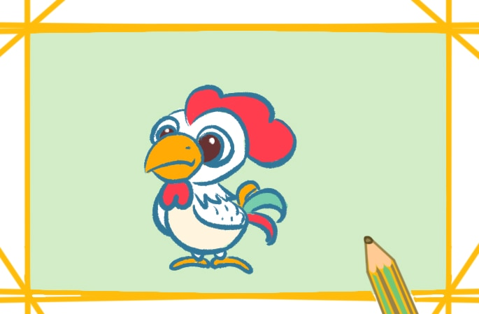 可爱的卡通小鸡上色简笔画要怎么画